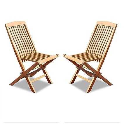 Amazon.com: King Teak - Silla plegable de madera de teca ...