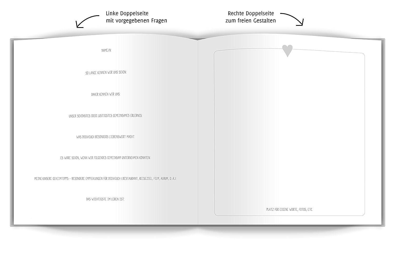 Bezaubernd Gästebuch Hochzeit Seite Gestalten Beste Wahl Hardcover Gästebuch Mit Vorgegebenen Fragen Und Blanko-seiten,