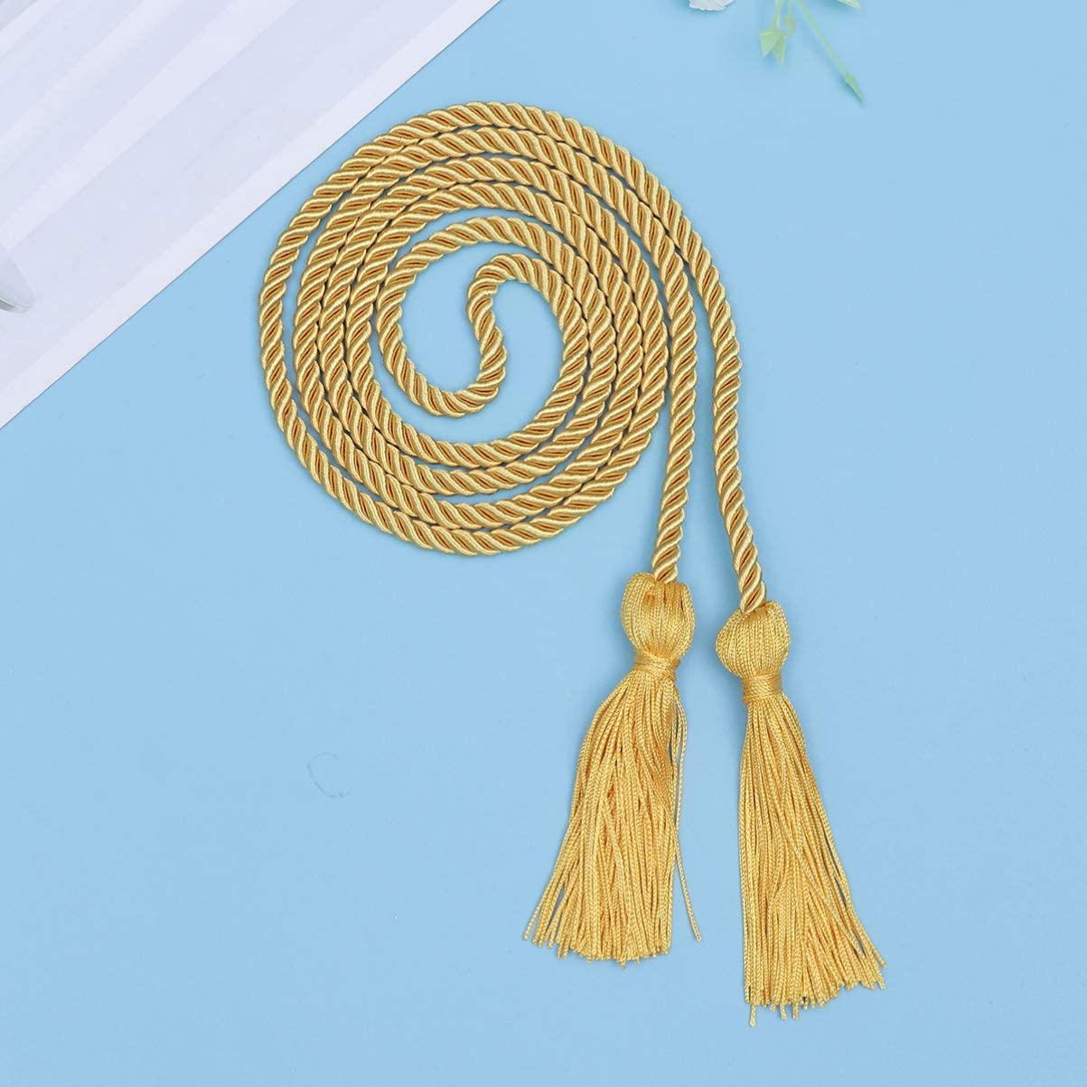 ARTIBETTER 2pcs 2020 Graduation Tassels Bulk Handmade Honor Cords Rope for Braided Bachelor Academic Grad Party Decorations Accessories