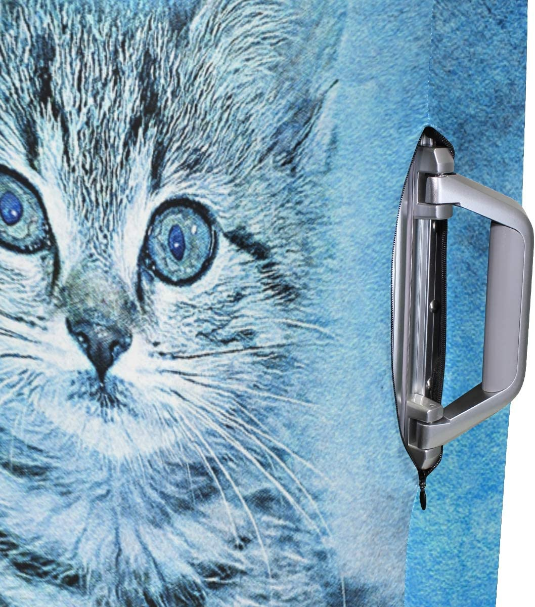 Travel Luggage Cover Cat Pet Blue Suitcase Protector Fits 18-20 Inch Washable Baggage Covers