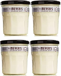 product image for Scented Soy Candle, Large Glass, Lavender, 7.2 oz, 4 Count