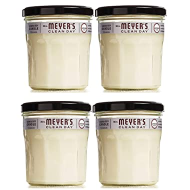 Mrs. Meyers Clean Day Scented Soy Candle, Large Glass, Lavender, 7.2 oz, 4 Count