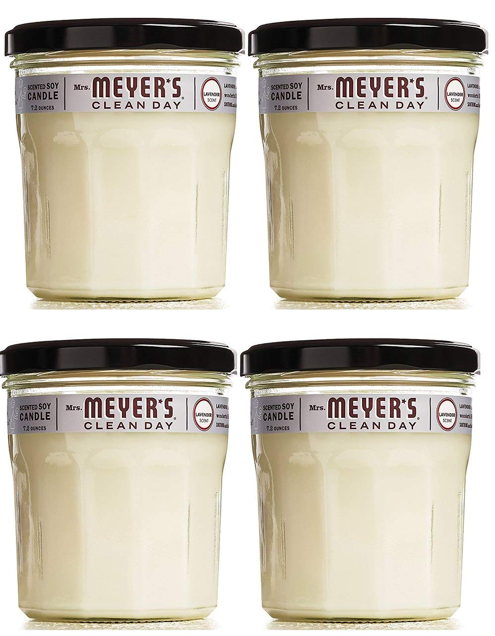 Scented Soy Candle, Large Glass, Lavender, 7.2 oz, 4 Count by Mrs. Meyer's Clean Day (Image #1)