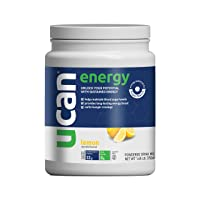UCAN Energy Powder - Pre Workout & Post Workout Supplement for Men & Women - No Added Sugar, Non-GMO, Vegan, Gluten Free, Keto Friendly - Long Lasting, No Crash - 30 Servings - Lemon