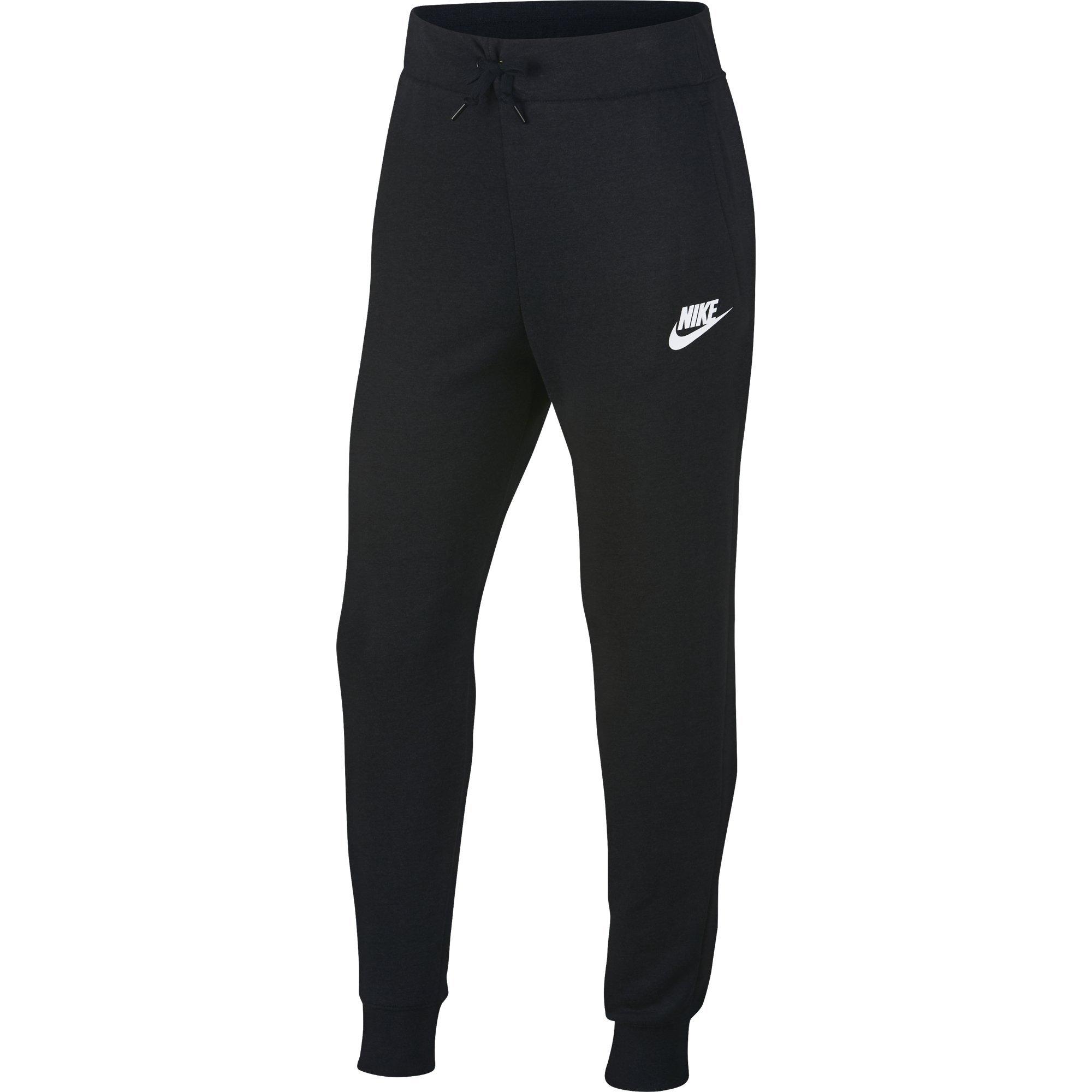 NIKE Sportswear Girls' Pants, Black/White, X-Small by Nike