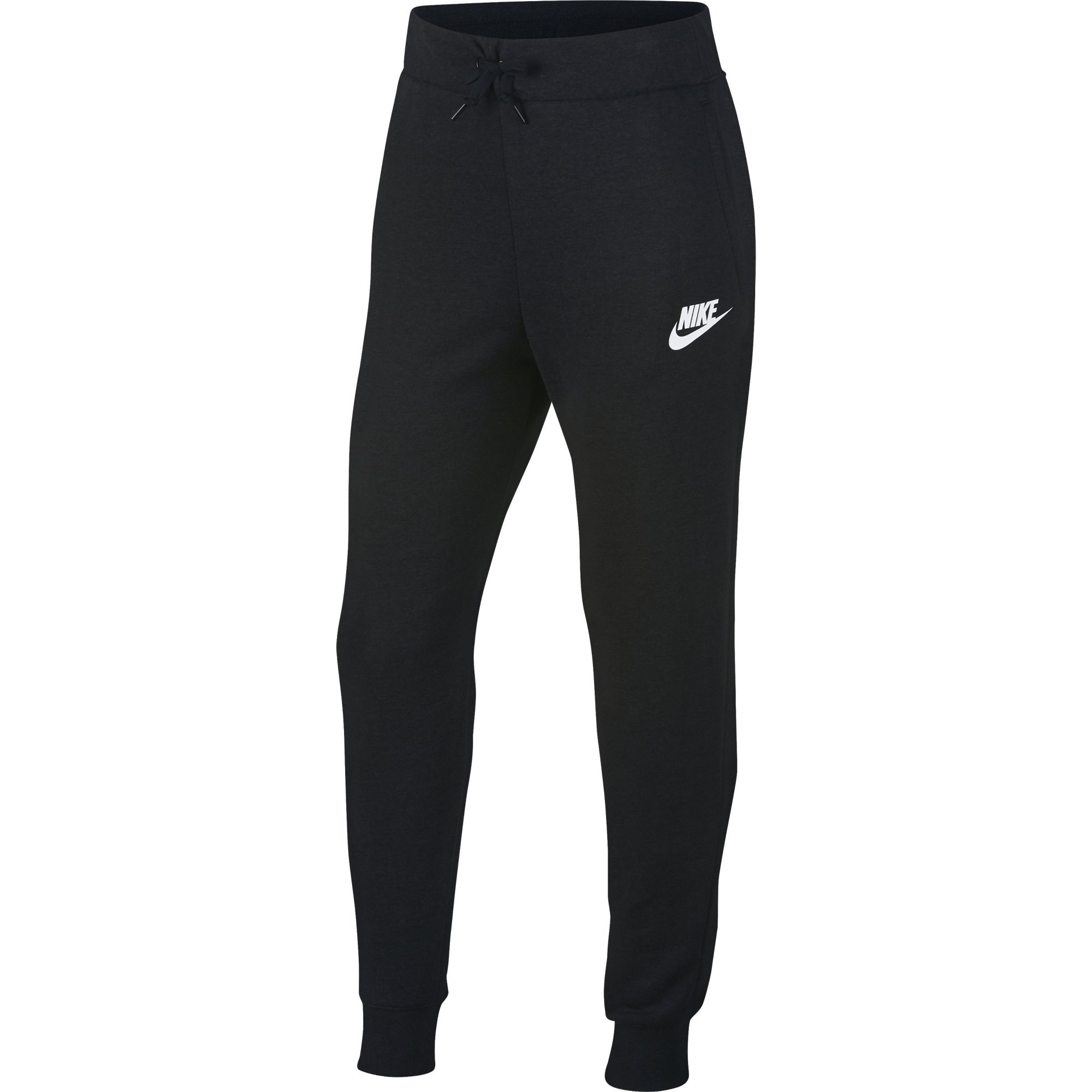 NIKE Sportswear Girls' Pants, Black/White, X-Small