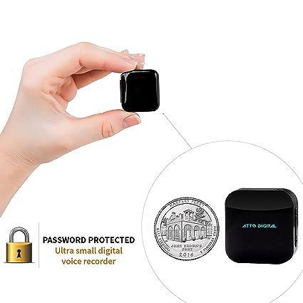 Mini Grabadora de Voz, Grabación Activada por Voz, 286 Horas de Capacidad de Grabación - Hasta 24 Horas de Duración de la Batería, Protección de ...