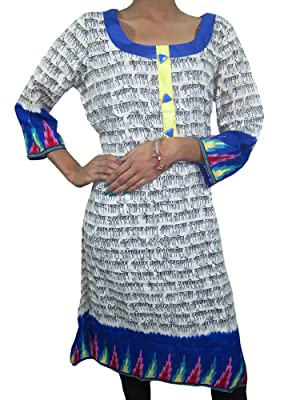 Designer Mantra Printed Tunic Top Kurti