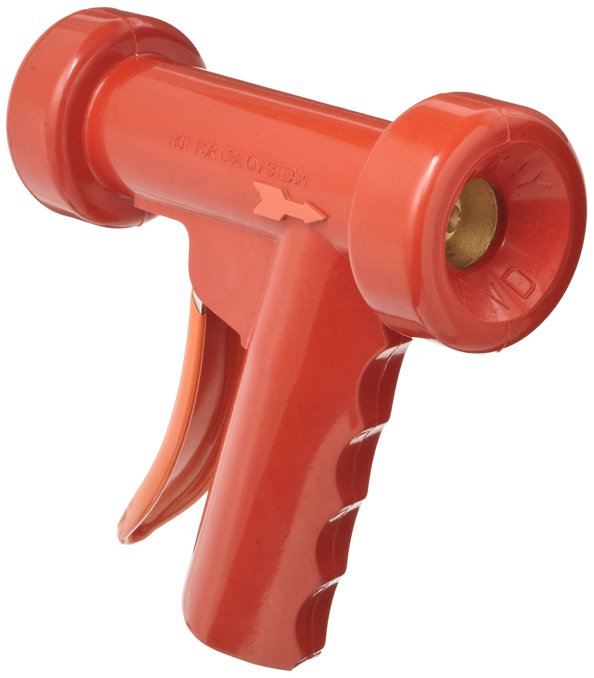 SuperKlean 150B-R Pistol Grip Spray Nozzle, Brass, 1/2 NPT, Red by SuperKlean