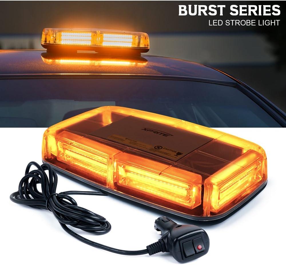 Waterproof Panel 12V Strobe Light Alarm Ultra Bright White LED Flashes Tube Like #LT5SW