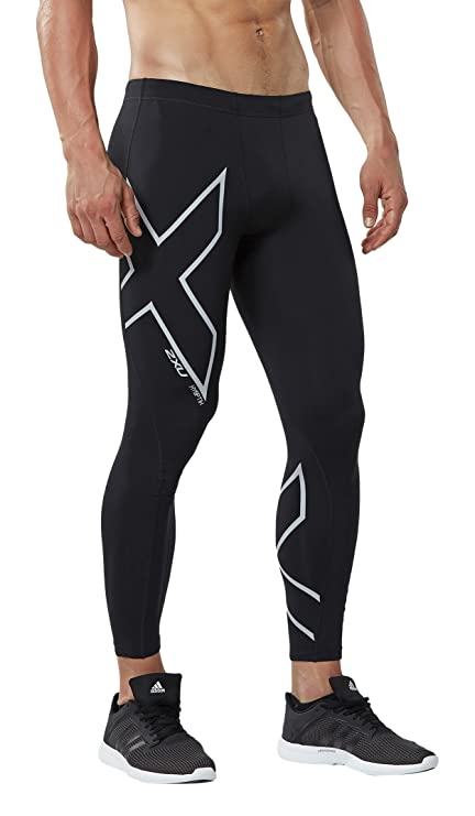 ece6dba518 2XU Men's Hyoptik Thermal Compression Tights, Black/Silver Reflective,  X-Large