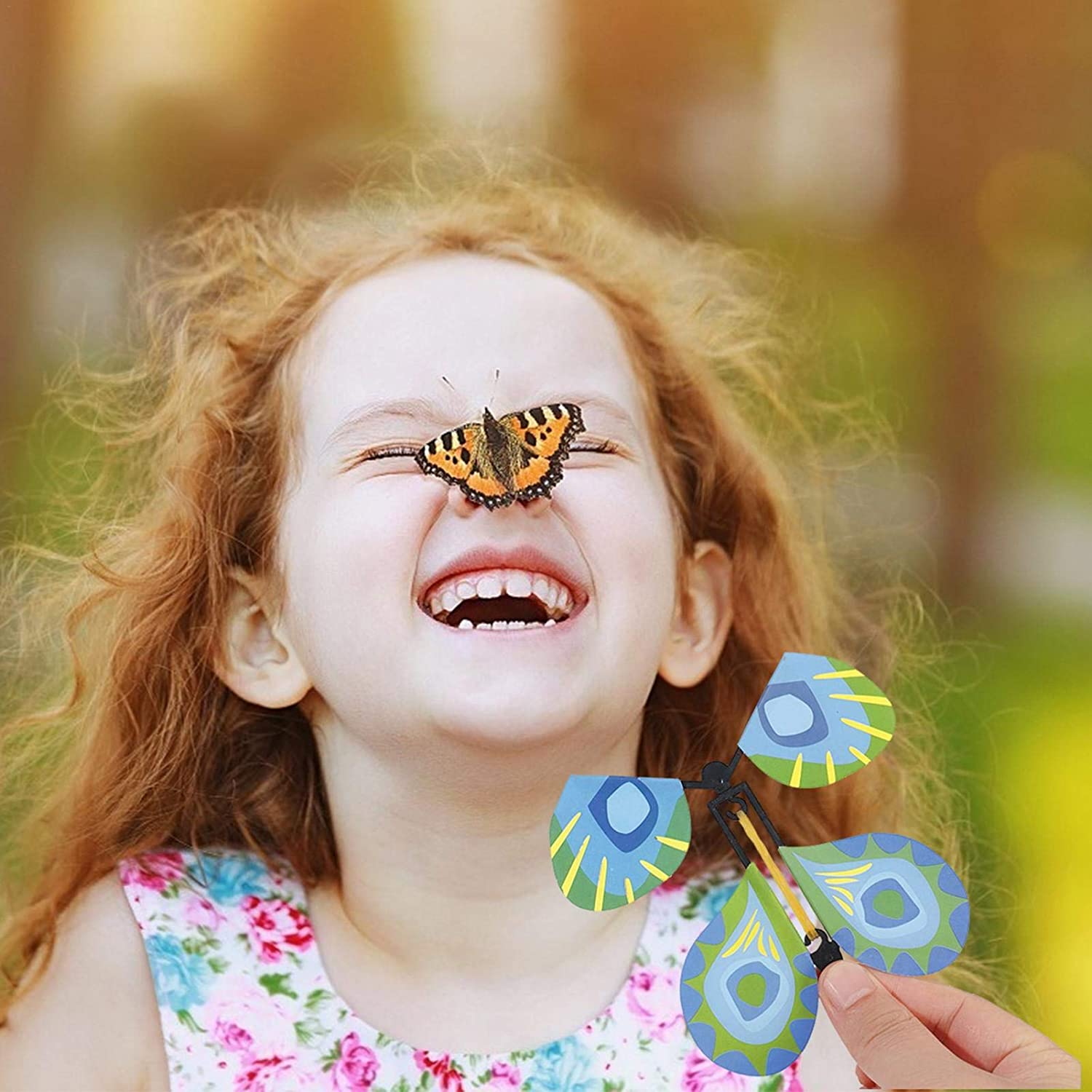 Pupa Into Butterfly Magic Flying Butterfly Rubber Band Power Spring Free Butterfly Butterfly Toy Childrens Magic Prop Toy Flying Butterfly
