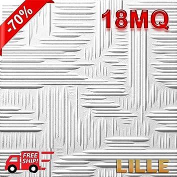 Styropor Deckenplatten 18 M Masse 50 X 50 Cm Starke 1 Cm Fur Dekorative 3d Effekte Gegen Schimmel Fur Warme Akustische Isolation Doppelte Dichte 3 Modelle Amazon De Baumarkt