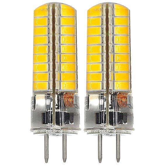 MENGS® 2 Stück GY6.35 6W LED Lampe 72x5730 SMD Warmweiß 3000K AC/DC 12V Mit Silikon Mantel