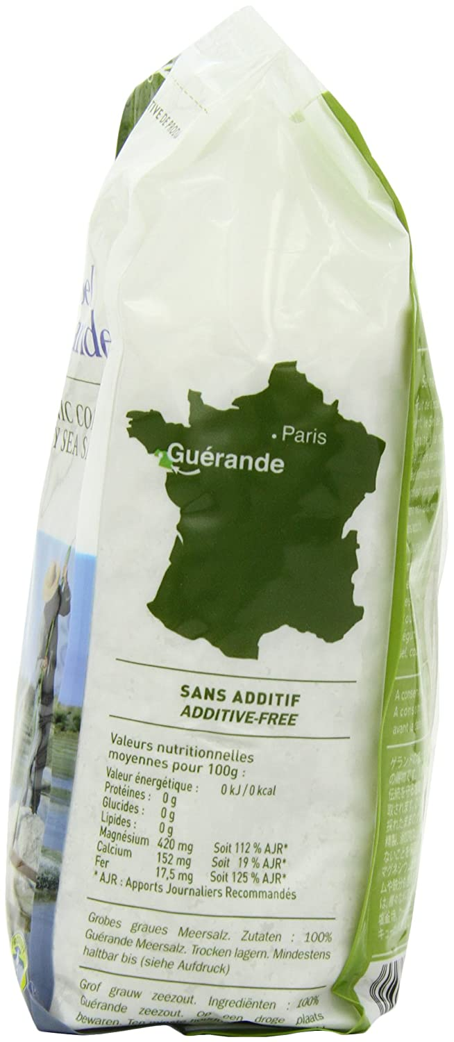 Amazon.com : Le Guerandais Coarse Sea Salt In Bag 1 Kg (Pack of 3) : Grocery & Gourmet Food