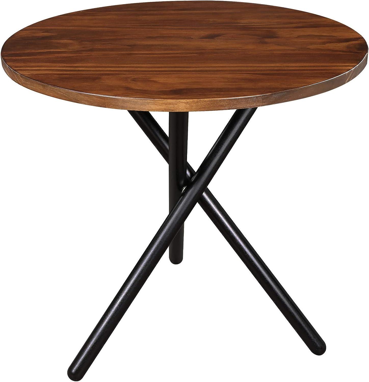 Casual Home Cadenza Modern End Table, Mocha, Black (New)
