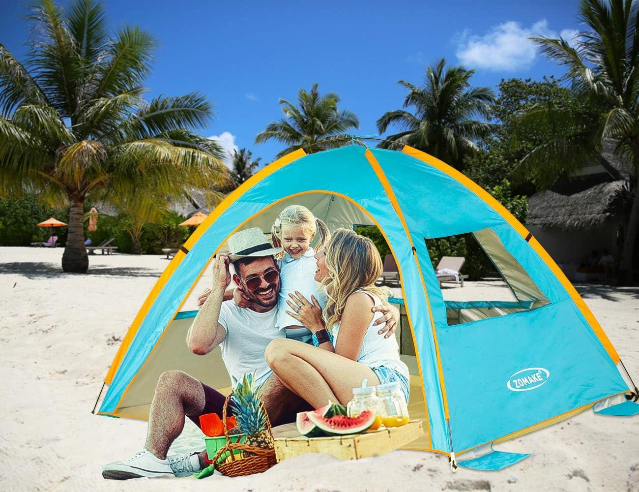 Zomake Pop Up Beach Tent 2 3 Person Lightweight Portable
