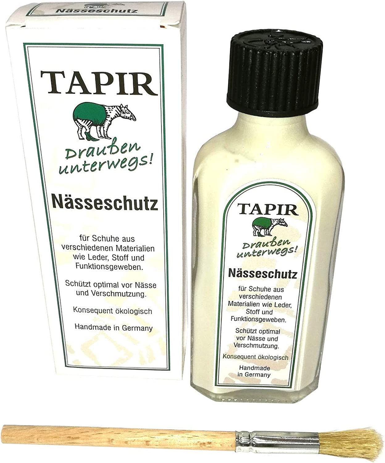 Tapir Out Rain Protection For Shoes 100 Ml Glass Bottle With Brush Schuhe Handtaschen