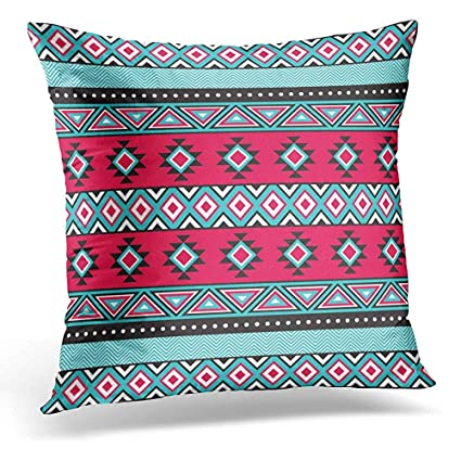 Stupendous Amazon Com Throw Pillow Covers Black Indian Tribal In Teal Dailytribune Chair Design For Home Dailytribuneorg