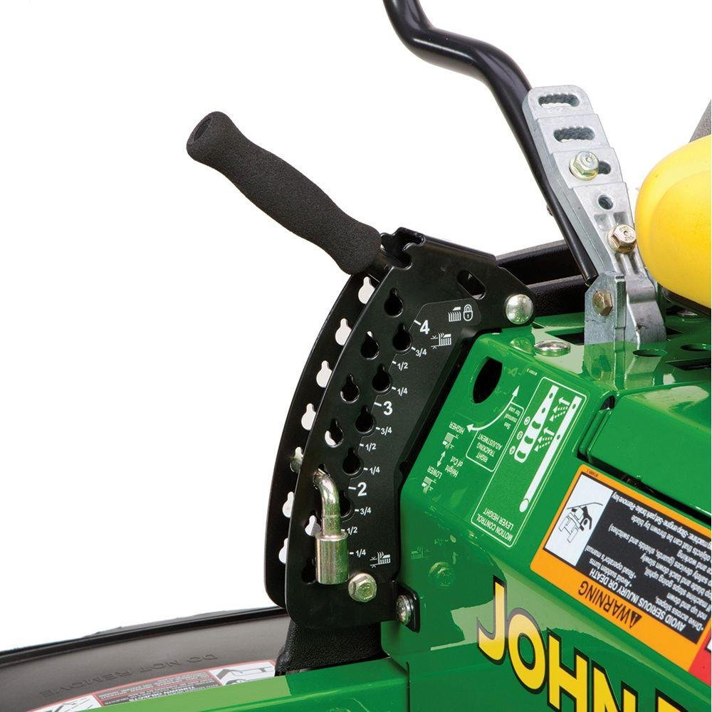 "Toucan City Gas Can with 3"" Softouch Hand Trowel and John Deere Z355E 48 in. 22 HP Gas Dual Hydrostatic Zero-Turn Riding Mower-California Compliant BG21045"