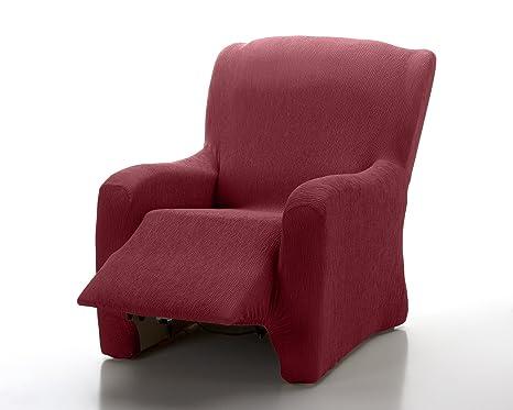 textil-home - Funda de Sillón Elástica Relax Completo Marian, Tamaño 1 Plaza Desde 70 a 100Cm. Color Rojo