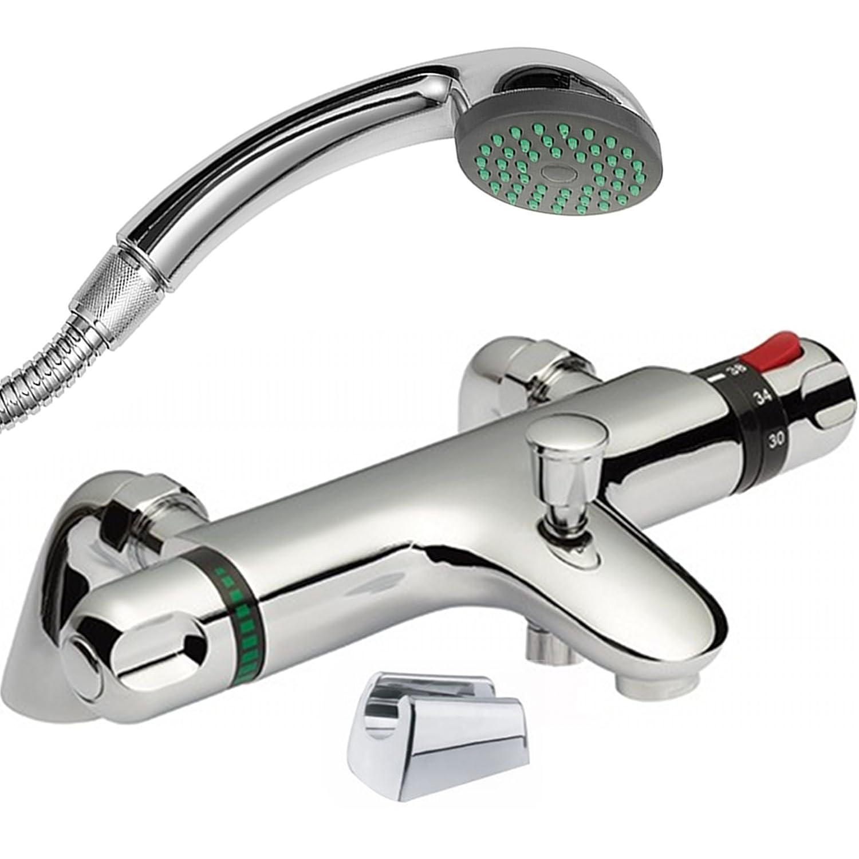 ENKI grifo termostá tico para llenar bañ eras con salida para ducha set soporte C168-C107-C113-C153-IMDSW025CH/6