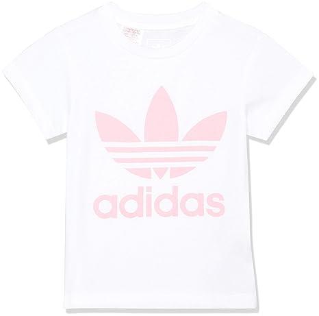 adidas DH2475 Camiseta, Niños, Blanco/Rosa (rossua), 128 (7
