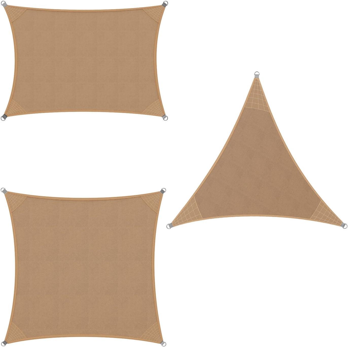 Rectangle 2x4m, Sand DETEX Sun Sails HDPE