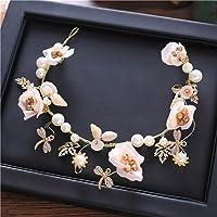 CRR Guirnalda de Novia Guirnalda Tocado Corona de Flores Accesorios para el Cabello Banda para el Cabello Vestido de…