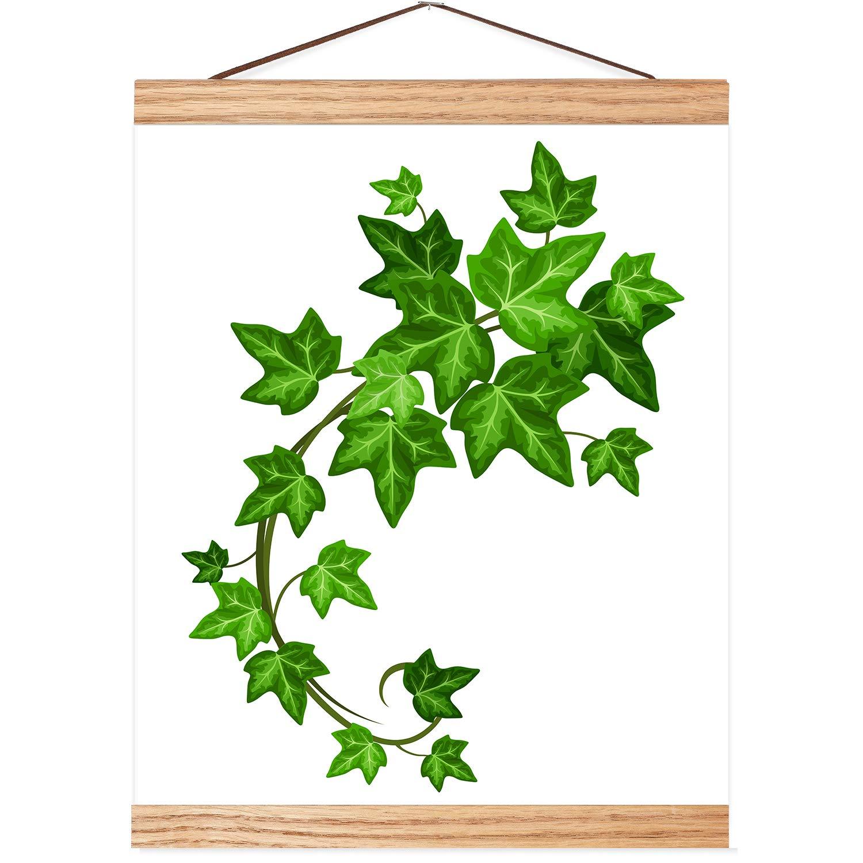 Magnetic Poster Hanger Wooden Poster Hanger Frame DIY Artwork Hanger for Photo Picture Artwork Supplies (24 Inch)