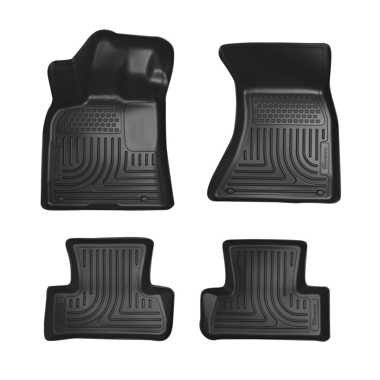 Husky Liners Front & 2nd Seat Floor Liners Fits 11-18 300/Charger AWD 98081