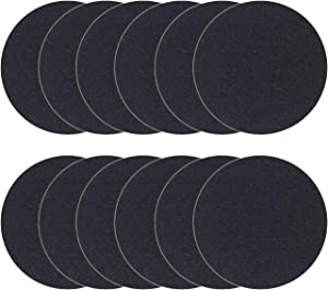 FRESH HEADQUARTERS 12 Piece Compost Bin Filters Replacement Set for Kitchen Compost Bin - 6.7 Inch Trimmable Charcoal Filter Pads Eliminate Indoor Composting Odors with Activated Carbon