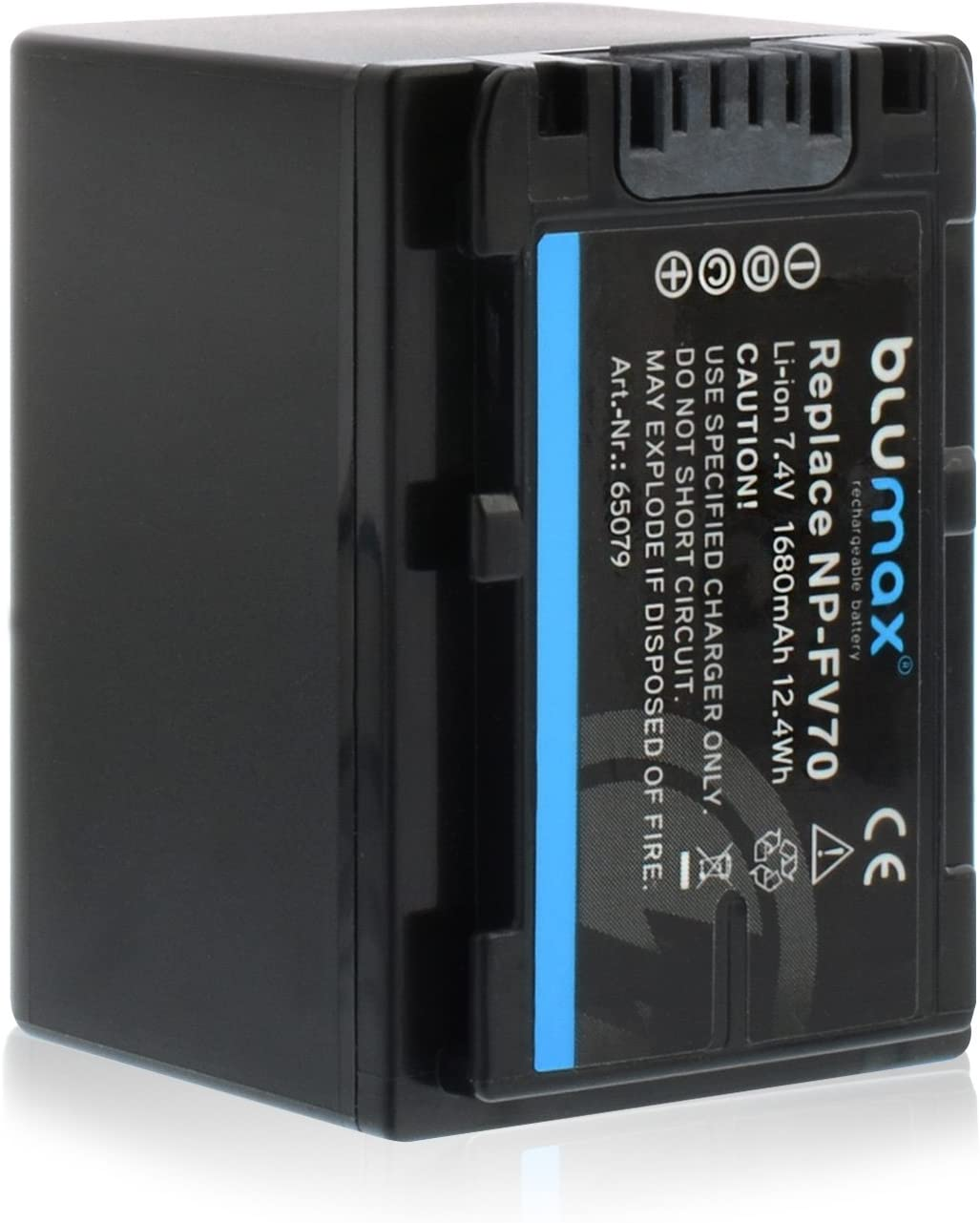NP-FV100 Akku kompatibel mit diversen Sony Kameramodellen 3300mAh 7,4V 24,4Wh/mehr Leistung als Original akku Blumax 2X NP-FV120