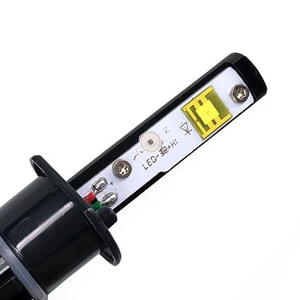 Extra brillante 9600lm 40 W H1 coche LED Headlight Lámpara Kit de conversión Turbo LED Color Blanco Frío 6000 K 2 AÑOS DE GARANTÍA: Amazon.es: Coche y moto