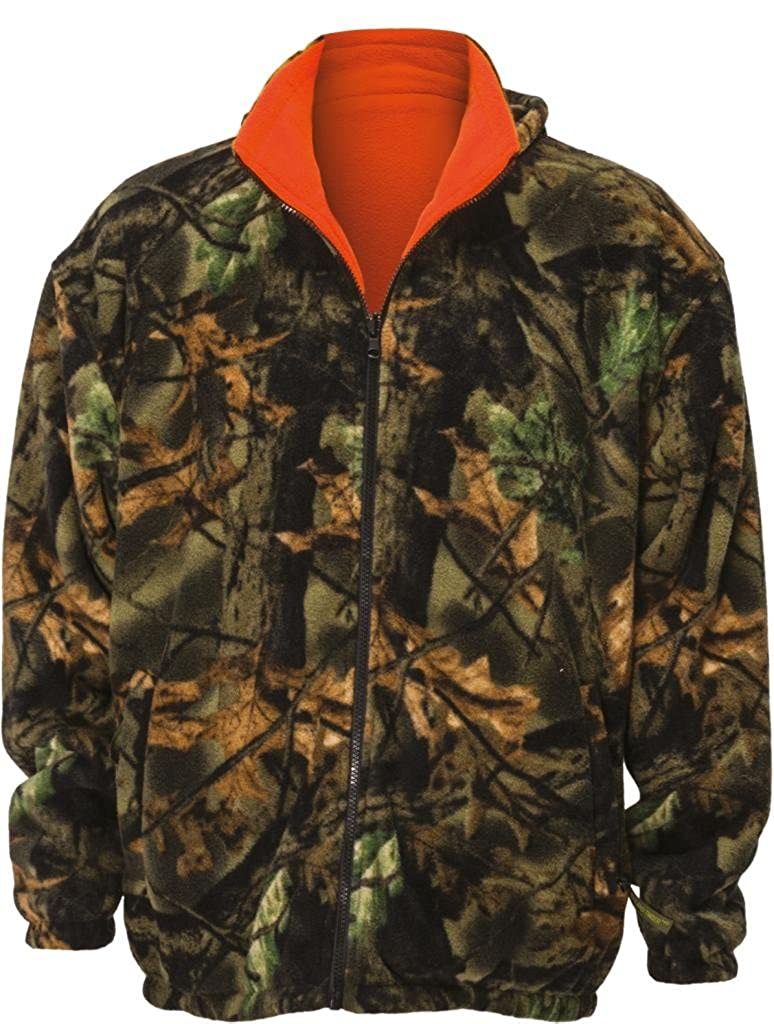 Trail Crest Kid's Reversible Camo & Blaze Orange Hunting Jacket W/ Magnet Small