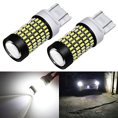 Phinlion 7443 LED Bulb White Super Bright 2800 Lumens 3014 103-SMD 7440 7444 LED Bulbs with Projector for Back Up Reverse Turn Signal Brake Stop Tail Lights, 6000K Xenon White: Automotive