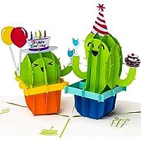 3D Geburtstagskarte Happy Birthday mit Kakteen Pop up Karte, Grußkarte, Glückwunschkarte zum Geburtstag, Grußkarte, Kaktus mit Luftballon, Geschenkkarte, Happy Birthday Card, Geburtstagskarten
