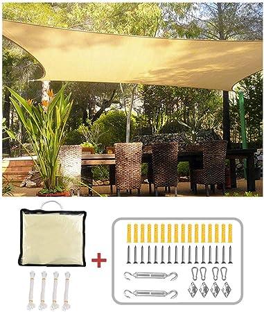 XLINGZ Toldos Vela Rectangular Protección Solar Pergola Kit Piscina - Beige 4.5x7m: Amazon.es: Hogar