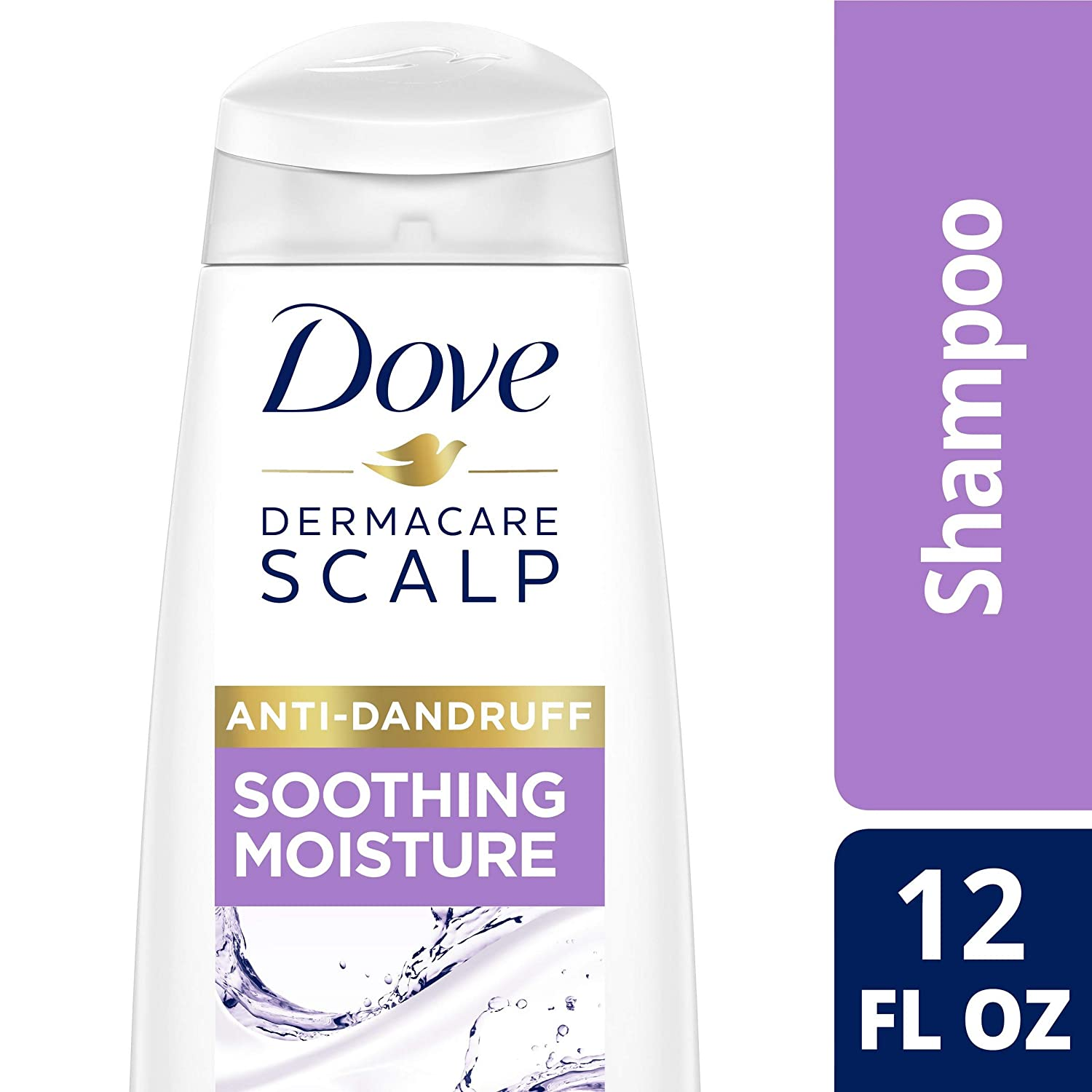 DOVE HAIR Dermacare Scalp Soothing Moisture Anti-Dandruff Shampoo, 12 Ounce (Pack Of 6)