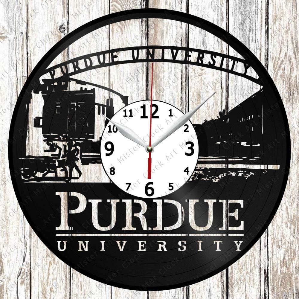 Vinyl Clock - Vinyl Wall Clock - Purdue University - Handmade Original Gift - Custom Design - Personalised Vinyl Record Wall Clock - Unique Art Home Decor -