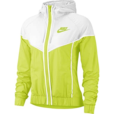 6ce82fc7a2 Amazon.com  Nike Women s Woven Windrunner Full Zip Windbreaker ...