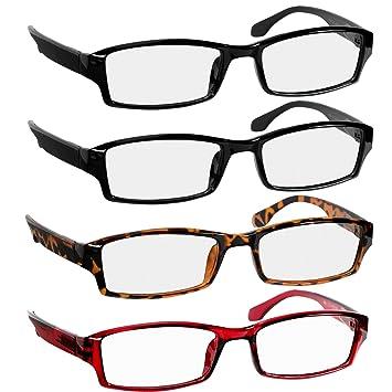 Reading Glasses 0.75 2 Black Tortoise Red Fashion Readers for Men & Women -  Spring Arms
