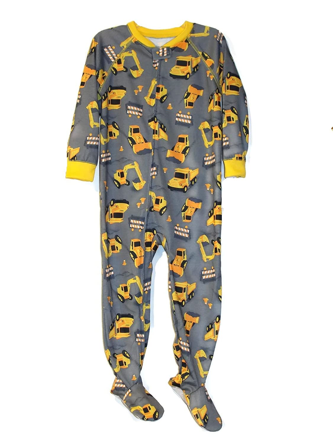 Just One You Toddler Boy's Construction Vehicles Polyester Jersey Footed Pajama Sleeper