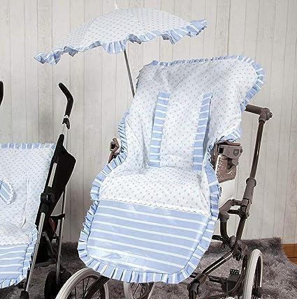 Babyline Oporto - Colchoneta para silla de paseo, color azul celeste