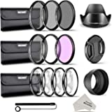 Neewer 58MM Complete Lens Filter and Accessory Kit: 58MM Filters(UV/CPL/FLD), Close-up Filters(+1/+2/+4/+10), ND Filters(ND2/