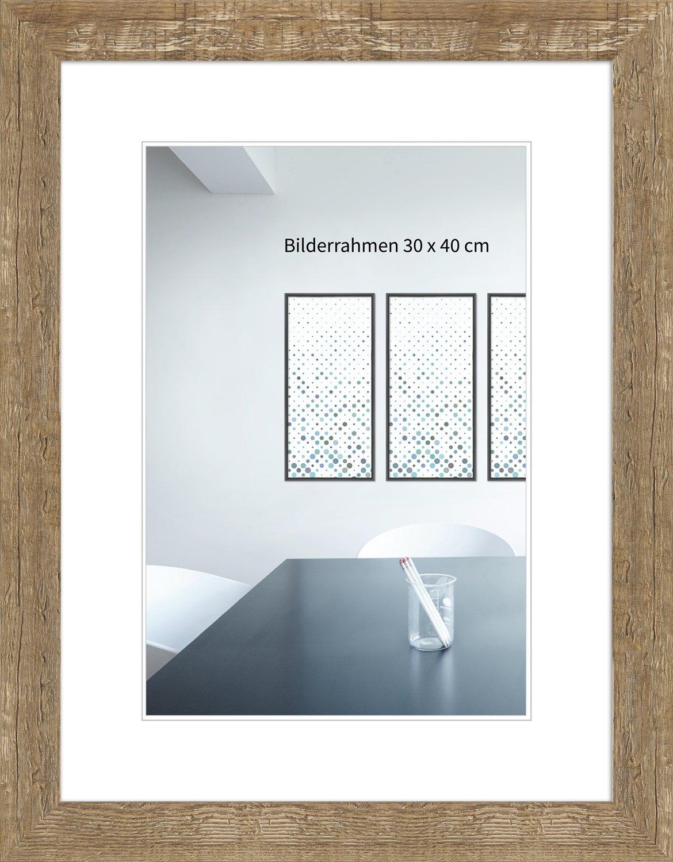WandStyle H750-022 Bilderrahmen / Fotorahmen Strandhaus, Rustikal, Massivholz (10 x 10 cm) FDM