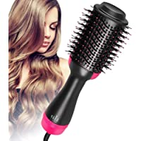 One Step Hair Dryer and Volumizer Multifunctional Oval Blower Hot Air Paddle Styling Brush Negative Ion Generator Hair…