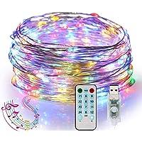 ANNA TOSANI Luces Led Decorativas, USB 10M 100LEDs Guirnalda Luces Led Tira Iluminación, Sync con Música y Función de…