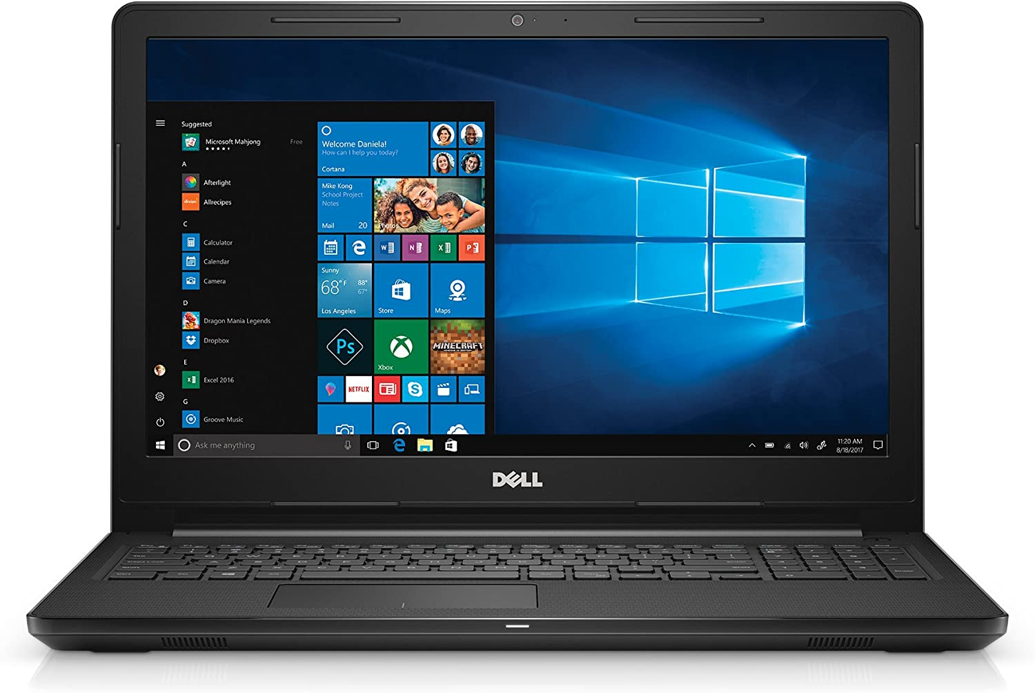 "Dell Inspiron 15 3567 Series – 15"" LED-Backlit Display - 7th Gen Intel Core i3 Proc - 4GB Mem – 128GB SSD - Intel HD Graphics 620"