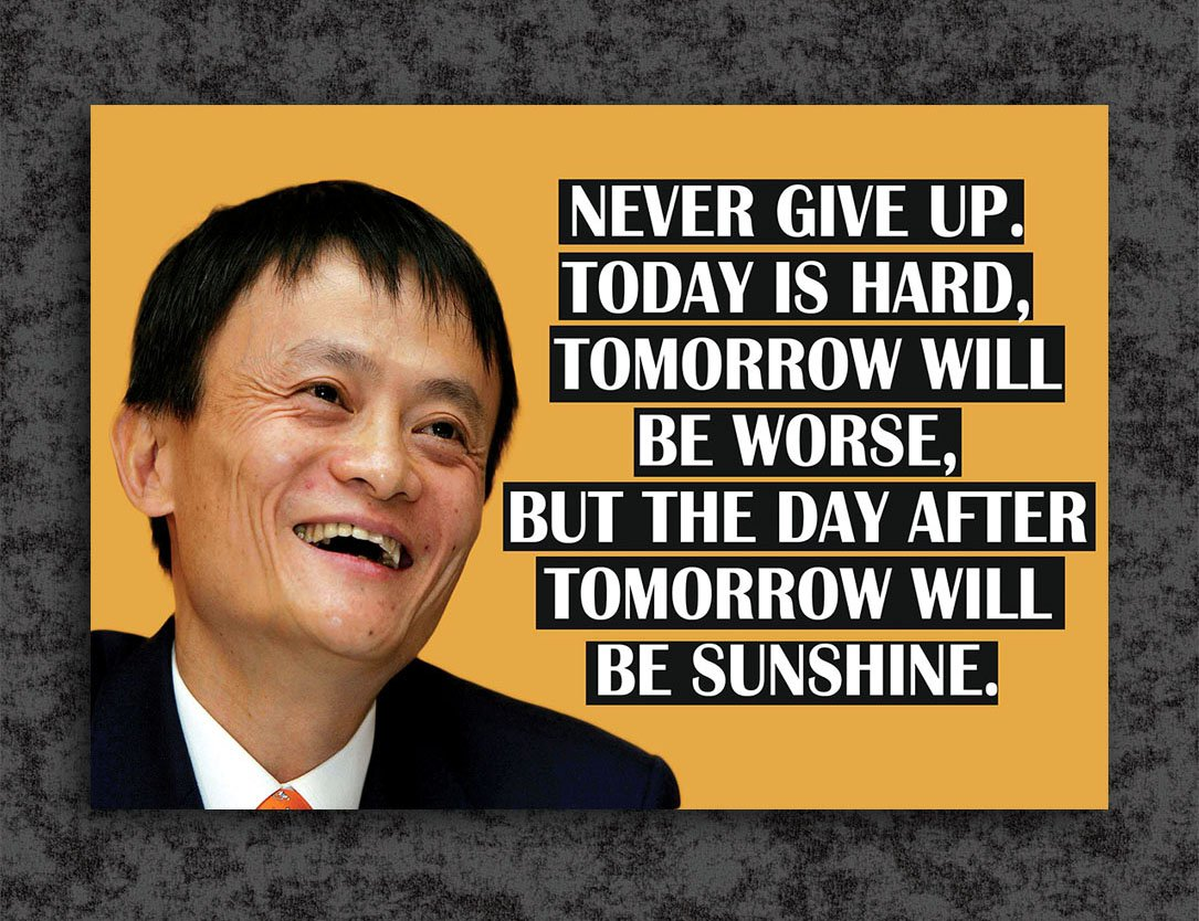 Tamatina Inspirational Thoughts Poster Jack Ma Motivational
